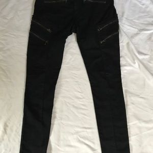 RAG AND BONE BLACK JEANS 6 ZIPPERS POCKETS SIZE 29